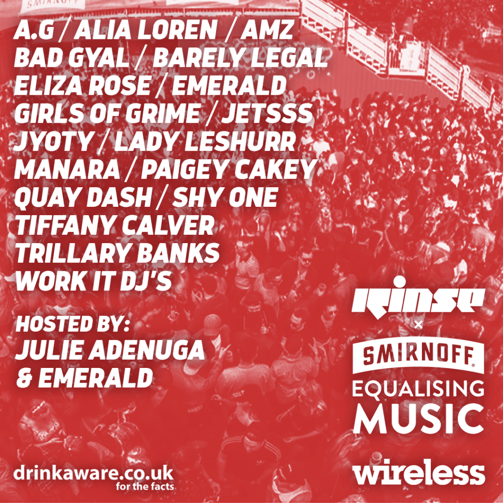Rinse FM Curates an All-female Line-up for Smirnoff House at This Year's Sold-out Wireless Festival